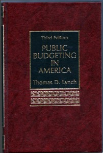 Public Budgetin in America third edition
