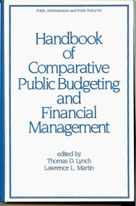 Handbook of Comparative Public Budgeting and Financial Management